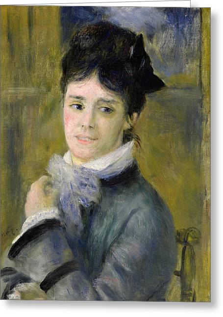Wife Greeting Cards - Portrait of Madame Claude Monet Greeting Card by Renoir