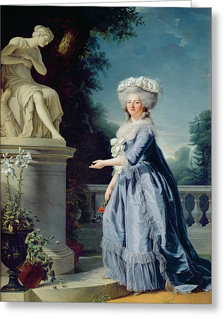 Aristocrat Greeting Cards - Portrait of Marie-Louise Victoire de France Greeting Card by Adelaide Labille-Guiard