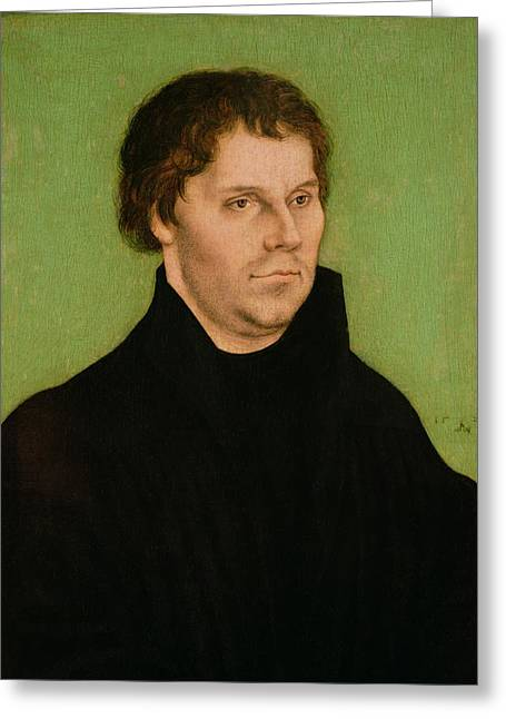Processions Greeting Cards - Portrait of Martin Luther Greeting Card by Lucas Cranach the Elder