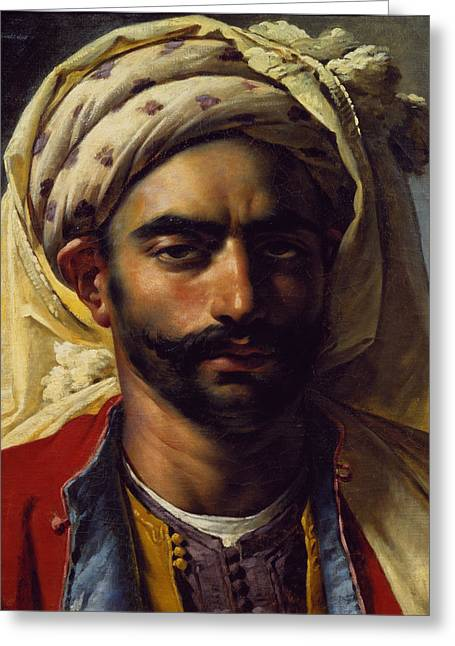 Girodet Greeting Cards - Portrait of Mustapha Greeting Card by Anne Louis Girodet de Roucy-Trioson