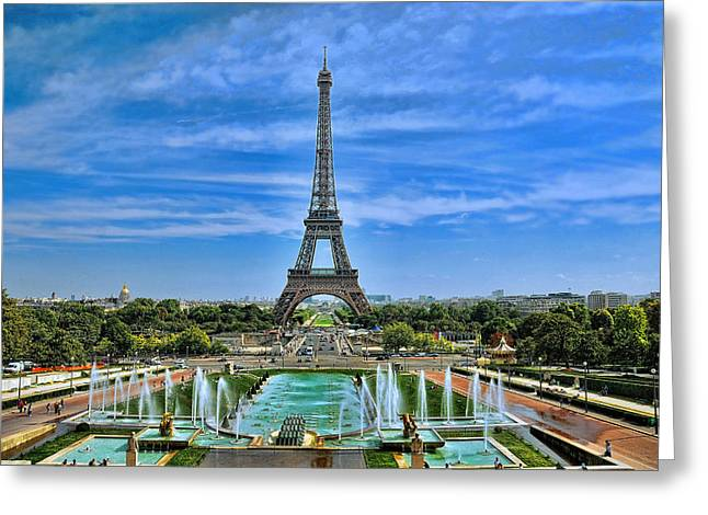 Puddle Iron Greeting Cards - Portrait of Paris Greeting Card by Lanis Rossi