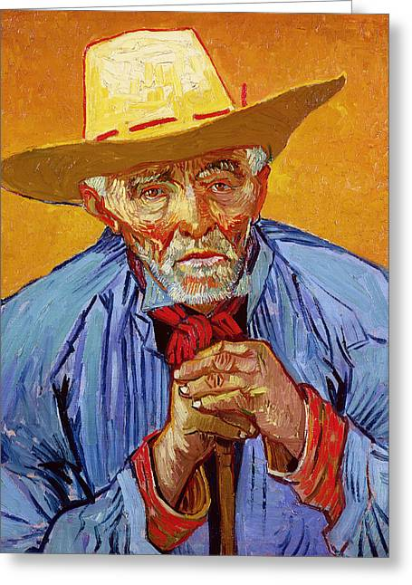 Peasant Greeting Cards - Portrait of Patience Escalier Greeting Card by Vincent van Gogh