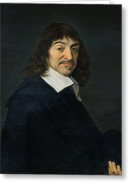 Philosopher Greeting Cards - Portrait of Rene Descartes Greeting Card by Frans Hals