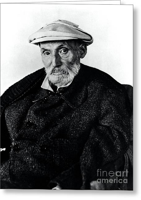 Famous Artist Greeting Cards - Portrait Of Renoir Greeting Card by Photo Researchers