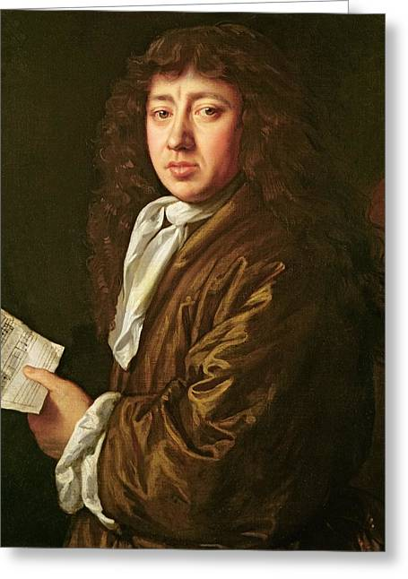 Neck Greeting Cards - Portrait of Samuel Pepys Greeting Card by John Hayls