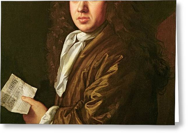 Portrait of Samuel Pepys Greeting Card by John Hayls