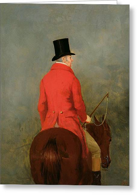 Horse Whip Greeting Cards - Portrait of Thomas Cholmondeley Greeting Card by Henry Calvert