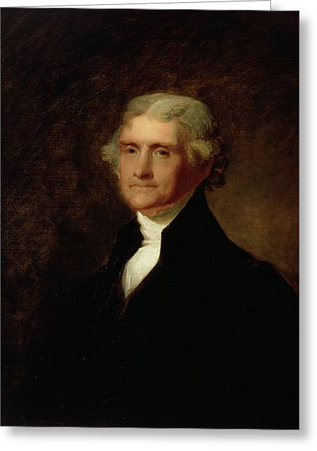 Jefferson Paintings Greeting Cards - Portrait of Thomas Jefferson Greeting Card by Asher Brown Durand