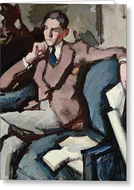 Suave Greeting Cards - Portrait of Willie Peploe Greeting Card by Samuel John Peploe