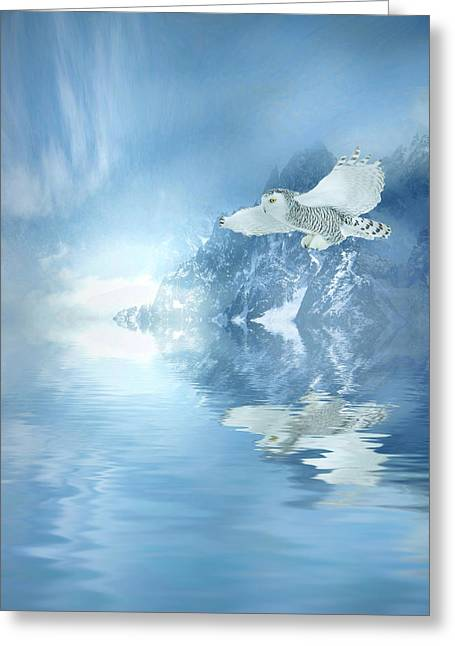 Winter Scene Digital Art Greeting Cards - Portrait of Winter Greeting Card by Sharon Lisa Clarke