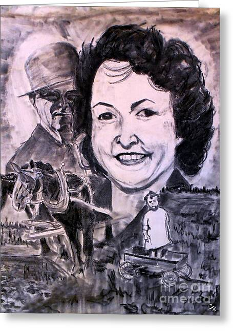 Ancestry Greeting Cards - Portrait Greeting Card by Ron Bissett