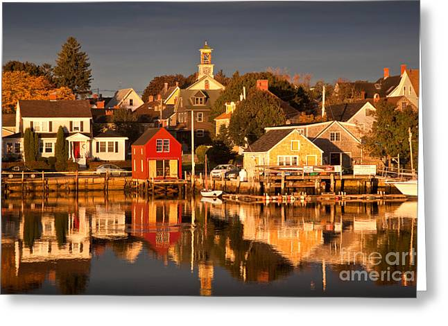 Portsmouth Reflections Greeting Card by Susan Cole Kelly