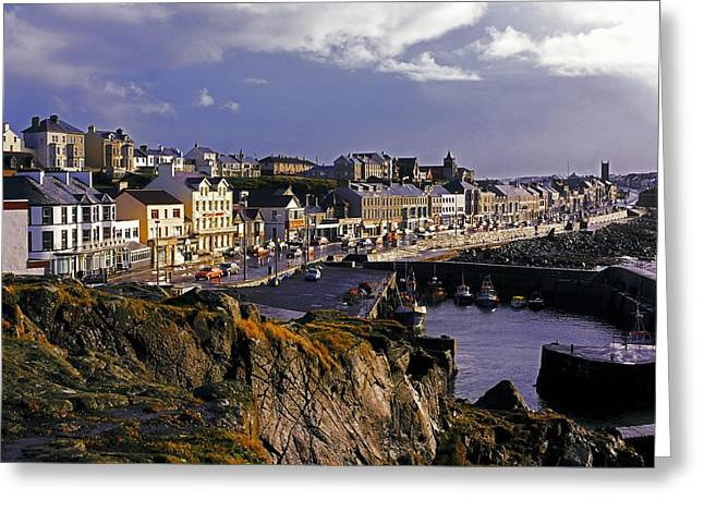 Boats In Harbor Greeting Cards - Portstewart, Co Derry, Ireland Seaside Greeting Card by The Irish Image Collection