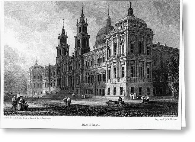 Mafra Greeting Cards - Portugal: Mafra Palace Greeting Card by Granger