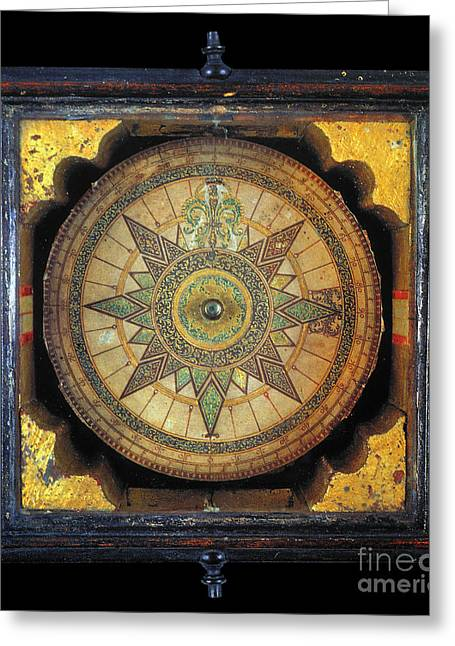 1711 Greeting Cards - Portuguese Compass, 1711 Greeting Card by Granger