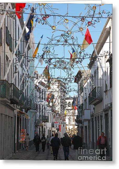 Portuguese Street Greeting Card by Gaspar Avila