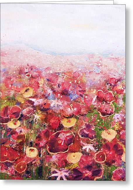 Posies Greeting Card by Andria Alex