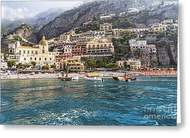 Positano Seaside View Greeting Card by George Oze