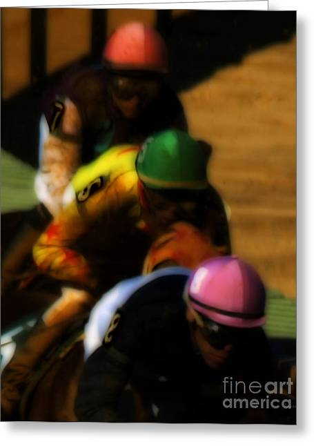 Horseback Riding Digital Art Greeting Cards - Positional Colors   Greeting Card by Steven  Digman