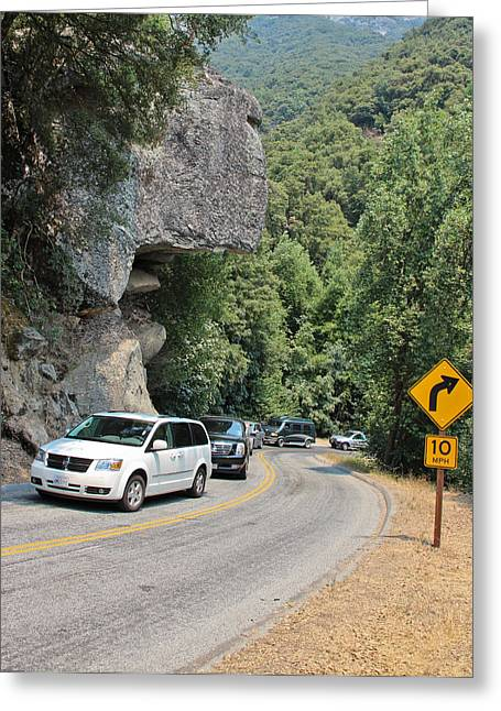 Sequoia National Park Greeting Cards - Possibly Precarious Greeting Card by Heidi Smith