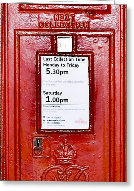 Postboxes Greeting Cards - Post Box Greeting Card by Svetlana Sewell