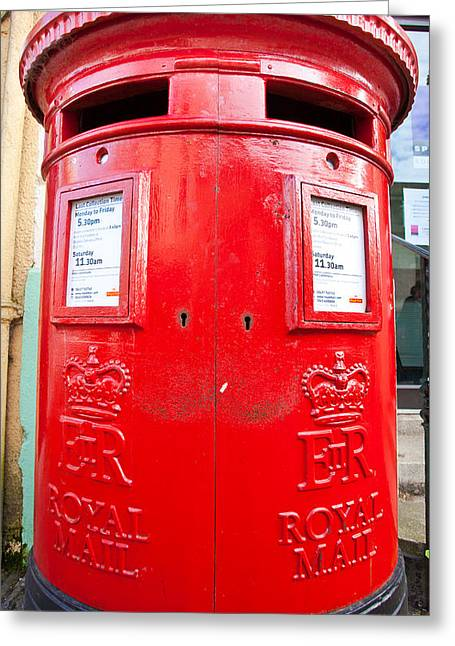 Pillar Box Greeting Cards - Post box Greeting Card by Tom Gowanlock