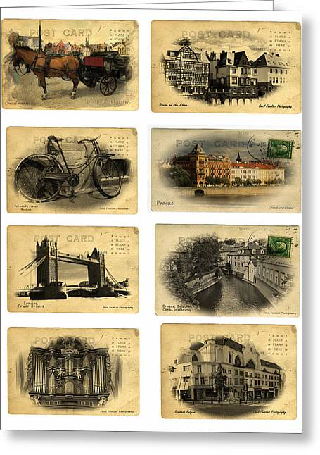 Post Cards From Europe 2 Greeting Card by Cecil Fuselier