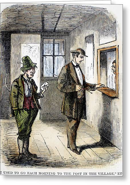 Daily Mail Greeting Cards - POST OFFICE, c1860 Greeting Card by Granger