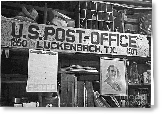 Cubicle Greeting Cards - Post Office  Luckenbach Texas Greeting Card by Joe Jake Pratt