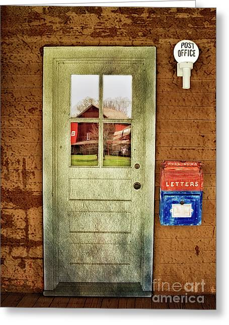 Post Office Greeting Card by Susan Candelario