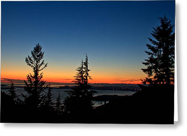 Sunset Bay State Park Greeting Cards - After The Sunset Greeting Card by Robert Bales