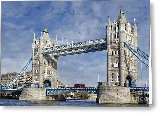 Famous Bridge Greeting Cards - Postcard Home Greeting Card by Joan Carroll