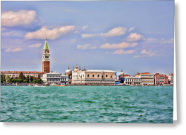 Postcard Of Venice Greeting Card by Daphne Sampson