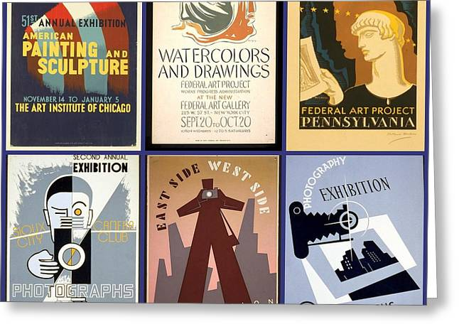 1940s Poster Art Greeting Cards - Poster Art of the 1930s and 1940s Greeting Card by Don Struke