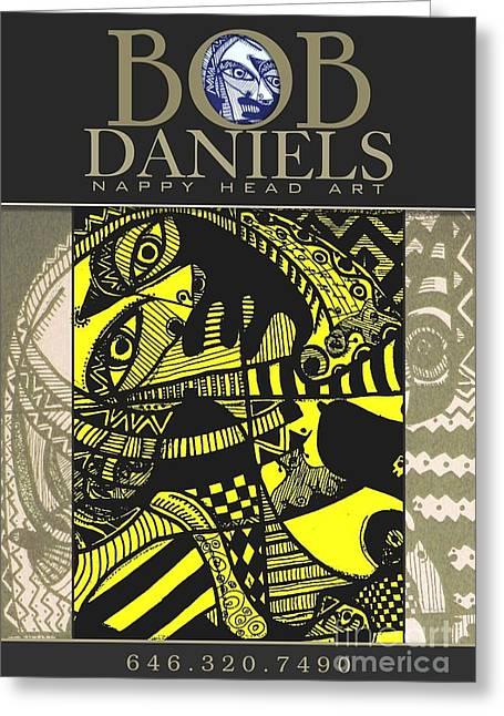 Robert Daniels Digital Art Greeting Cards - Poster Art Greeting Card by Robert Daniels