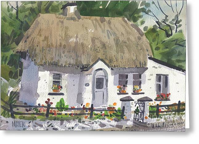 Screen Greeting Cards - Postmans Cottage Greeting Card by Donald Maier