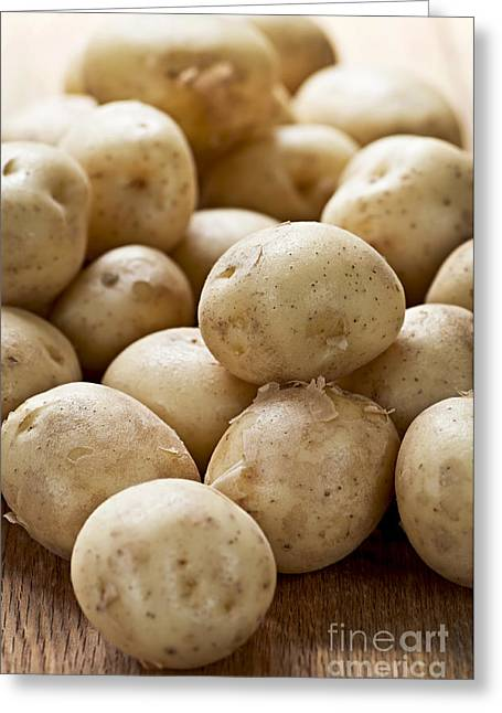 Mini Photographs Greeting Cards - Potatoes Greeting Card by Elena Elisseeva