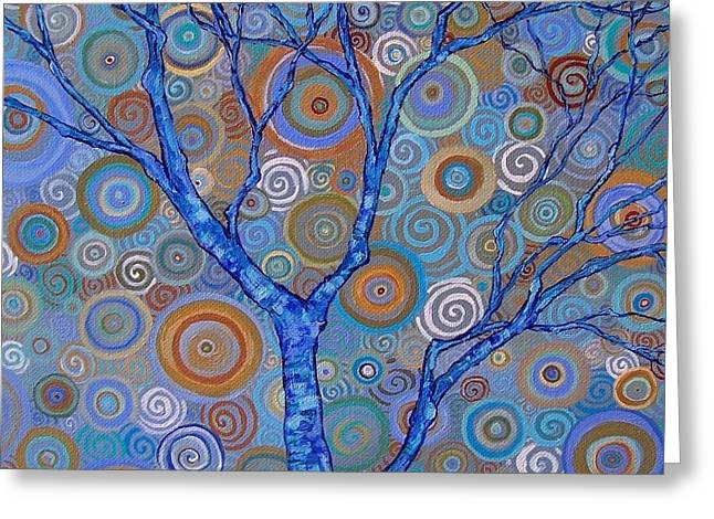 Raw Sienna Greeting Cards - Potential Tree Greeting Card by Dana Marie