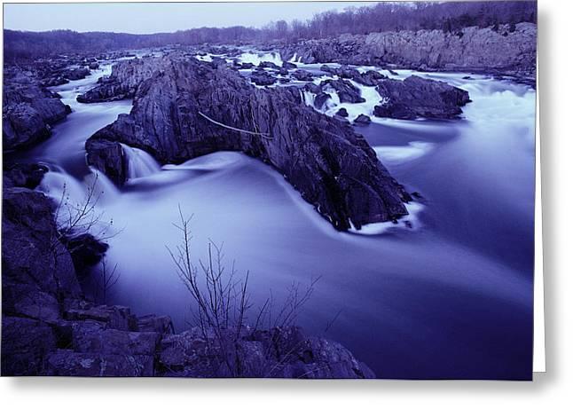 Potomac River Rapids And Large Rocks Greeting Card by Karen Kasmauski