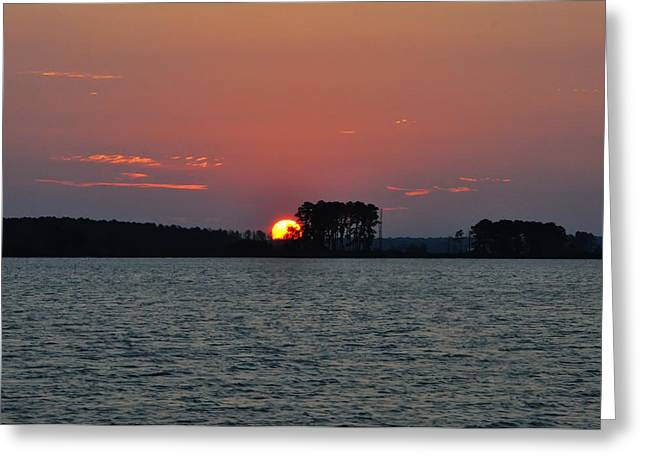 St. George Island Greeting Cards - Potomac Sunrise Greeting Card by Bill Cannon
