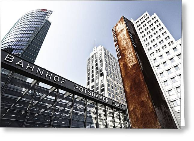 Constructing Greeting Cards - Potsdamer Platz BERLIN Greeting Card by Melanie Viola