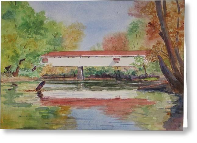 Potters Bridge Greeting Card by Anita Riemen
