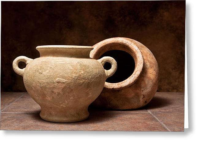Pottery Greeting Cards - Pottery II Greeting Card by Tom Mc Nemar