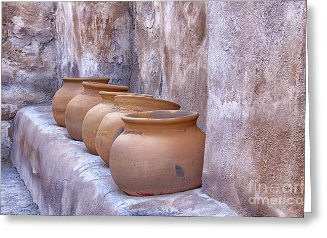 Pottery Of The Past Greeting Card by Sandra Bronstein