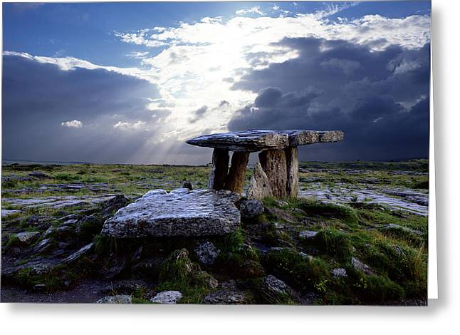 Poulnabrone Dolmen, County Clare Greeting Card by Chris Hill
