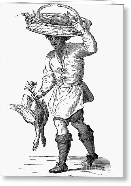 Cesare Greeting Cards - POULTRY DEALER, c1600 Greeting Card by Granger