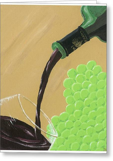 Wine Pour Paintings Greeting Cards - Pour a Glass Greeting Card by Starla Rodriguez