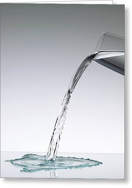 Pouring Greeting Cards - Pouring Water Greeting Card by Tek Image
