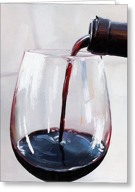Wine Pouring Greeting Cards - Pouring Wine 22 Greeting Card by Victor Bauer