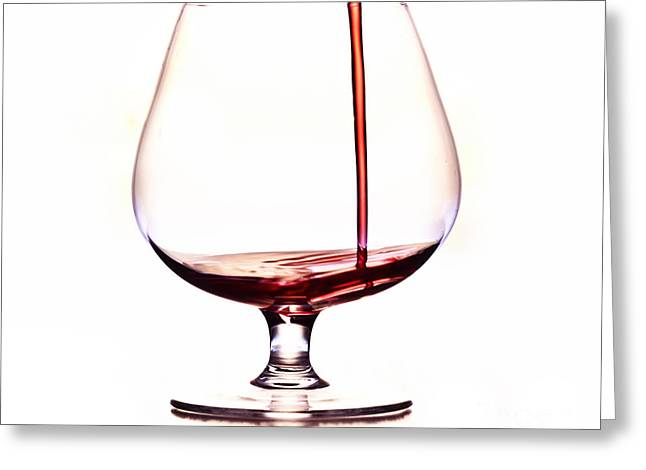 pouring wine Greeting Card by Michal Boubin